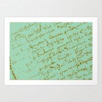 Pistachio French Script Art Print