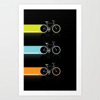 Light Bicycles Art Print