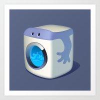 Washing Mashine Art Print