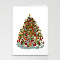 A Decorated Christmas Tr… Stationery Cards