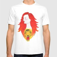 Roaring Fire Mens Fitted Tee White SMALL
