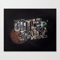 Greetings From Outer Spa… Canvas Print