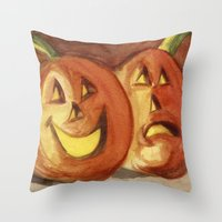 Jack-O-Lanterns Throw Pillow