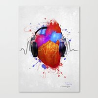 No Music - No Life Canvas Print