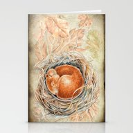 Mouse In The Nest Stationery Cards