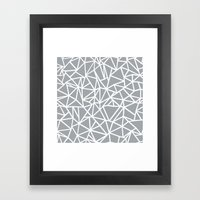 Abstract Outline Thick W… Framed Art Print