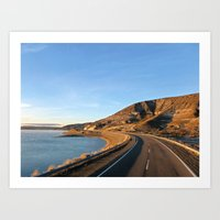 Road to Bariloche Art Print