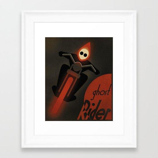 CASSANDRE SPIRIT - Ghost Rider2 Framed Art Print