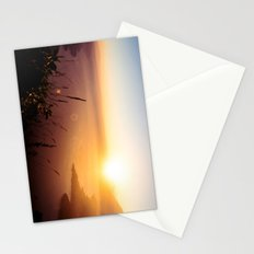 The view from my tent over Lake Atlitán Stationery Cards