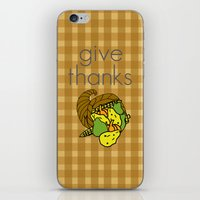 Give Thanks, November Cover iPhone & iPod Skin