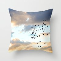 Don't Break Formation Throw Pillow