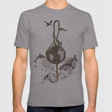Earth melody Mens Fitted Tee Athletic Grey SMALL