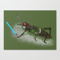 Locust Rider Black RX Canvas Print
