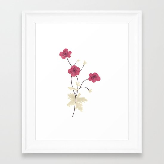 Armenian Cranesbill Flower Framed Art Print