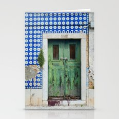 DOOR, LISBON, PORTUGAL Stationery Cards