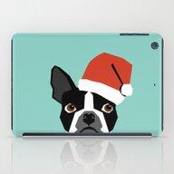 Xmas Boston Terrier Sant… iPad Case