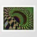 Tumbler #26 Optical Illusion Psychedelic Trippy Vibrant Design Art Print
