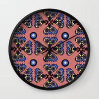 Butterflies And Dots Wall Clock