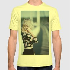Pastel summer Mens Fitted Tee Lemon SMALL
