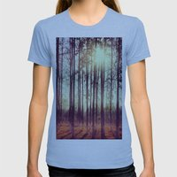 Somewhere In China Womens Fitted Tee Athletic Blue SMALL