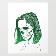 SKull GIrls 2 - Forest Fern Art Print