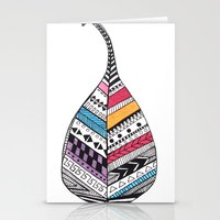 Aztec Leaf and Feathers Stationery Cards