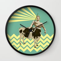 The real muscular cow-boy  Wall Clock