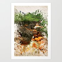 Golden River Art Print
