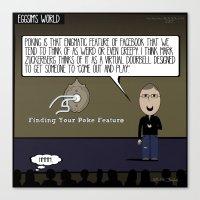 The Zen of the Facebook Poke Canvas Print