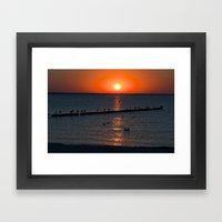 Holy Sunset On The Balti… Framed Art Print