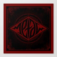 Metal Ambigram Canvas Print