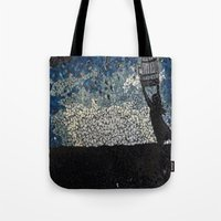 Free Bird  - Glass Mosaic Silhouette Tote Bag