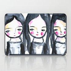 3 girls black and white iPad Case