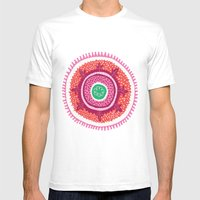 Suzani I Mens Fitted Tee White SMALL