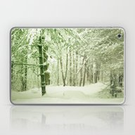 Laptop & iPad Skin featuring Winter Pine Trees by Olivia Joy StClaire