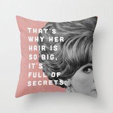 Full of Secrets Throw Pillow