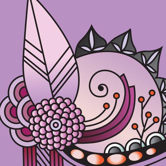 Ornate square zentangle, Amethyst purple Canvas Print