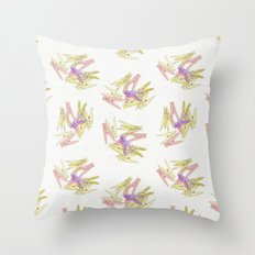 Сlothespins Throw Pillow