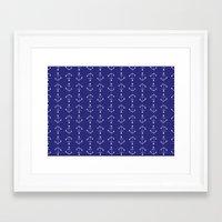 Mini Anchors Framed Art Print