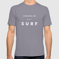 Charlie Don't Surf Mens Fitted Tee Slate SMALL