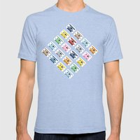 Rainbow Tapes 45 Mens Fitted Tee Tri-Blue SMALL