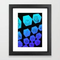 Sea Creature Cubes Framed Art Print