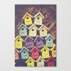 Birdhouses Canvas Print