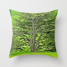 Old English Tree 1 Throw Pillow
