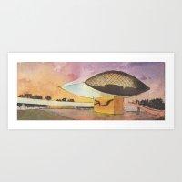 MON - Museu Oscar Niemey… Art Print