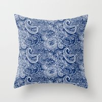 Paisley Pug Throw Pillow