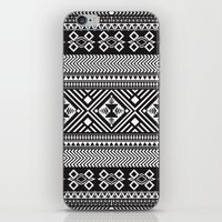 Monochrome Aztec inspired geometric pattern iPhone & iPod Skin