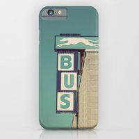 iPhone & iPod Case featuring Greyhound Bus Sign by Shy Photog