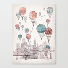 Voyages Over San Francisco Canvas Print
