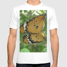 Butterfly mirror Mens Fitted Tee White SMALL